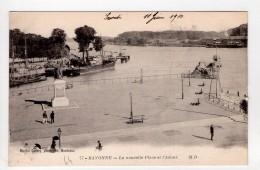 CPA-PL1144-BAYONNE LA NOUVELLE PLACE ET L ADOUR 1910 - Bayonne