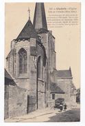 Chabris, L'église, Côté De L'abside, éd. Ménage N° 533, Marchand De Journeaux, Charette - France