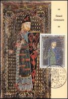 1814/ Carte Maximum (card) France N°1424 TABLEAU (PAINTING) Plaque Tombale Email Champlevé Limousin - Cartes-Maximum
