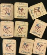 Lot De 9 Paquets Cigarettes   De 20 Cigarettes   De Troupes Pleins - Sigarette - Accessori