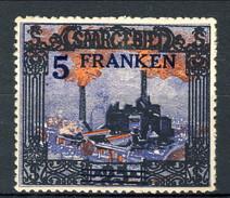 Sarre 1921 N. 82 F. 5 Su M. 25 MLH Catalogo € 31 X - 1920-35 Società Delle Nazioni