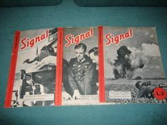 """RIVISTA """" SIGNAL """" BILINGUE TEDESCO - ITALIANO , 3 NUMERI : NN. : 10-12-17- 1942 . - War 1939-45"""