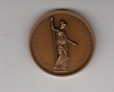 Bronze _  Notaires De L'aude- L' An XII Le Code Civil  (scan Agrandit) - Monnaies & Billets
