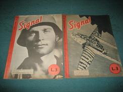 """RIVISTA """" SIGNAL """" BILINGUE TEDESCO - ITALIANO , 2 NUMERI : NN. : 18 - 22  - 1943 . - War 1939-45"""