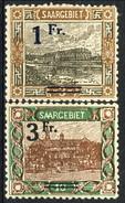 Sarre 1921 Serie N. 69-82 (lotto Di 2 Valori N. 79 E 81) MLH Catalogo € 29 - 1920-35 Società Delle Nazioni