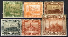 Sarre 1922 - 23 Serie N. 83-100 (lotto Di 6 Valori N. 83, 86, 87, 96, 97, 100) MLH Catalogo € 76 - 1920-35 Società Delle Nazioni