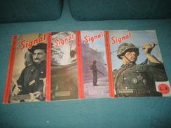 """RIVISTA """" SIGNAL """" BILINGUE TEDESCO - ITALIANO , 4 NUMERI : NN. : 4 - 13 - 16 - 18 - 1944 . - War 1939-45"""