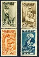 Sarre 1926 Serie Volkshilfe N. 103-106 MVLH Catalogo € 60 - 1920-35 Società Delle Nazioni