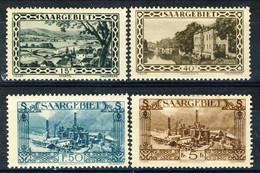 Sarre 1927 Serie N. 107-120 (lotto Di 4 Valori N. 108, 112, 117, 120) MLH Catalogo € 32 - Nuovi