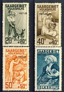Sarre 1927 Serie Volkshilfe N. 121-124 MVLH Catalogo € 80 - 1920-35 Società Delle Nazioni