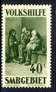 Sarre 1930 Serie Volkshilfe N. 132 C. 40+15 Oliva MNH Catalogo € 6,50 - 1920-35 Società Delle Nazioni