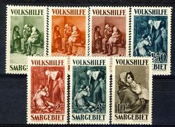 Sarre 1930 Serie Volkshilfe N. 132-138 MVLH Catalogo € 120 - 1920-35 Società Delle Nazioni