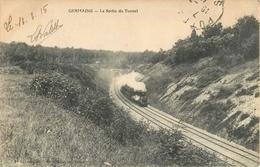 GERMAINE SORTIE DU TUNNEL TRAIN CHEMIN DE FER TRANSPORT 51 - France