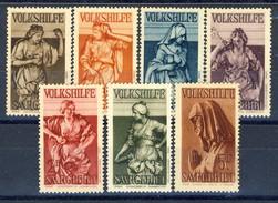 Sarre 1934 Serie Volkshilfe N. 167-171 MVLH Catalogo € 150 - 1920-35 Società Delle Nazioni