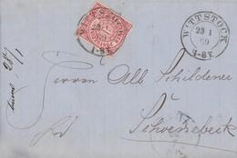 NDP Brief EF Minr.4 R2 Wittstock 23.1.69 Gel. Nach Schönebeck - Norddeutscher Postbezirk