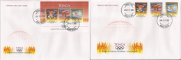 Tonga 2012, London 2012, Athletic, Swimming, Boxing, 3val +3val In BF In FDC