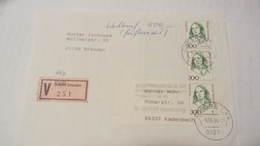 """BRD VGO: Wert-Bf Mit 300Pf Frauen In MeF Mit Alten V-Zettel """"O"""" Von 8044 Auf 01279 Geändert Vom 8.6.94 Knr:1433(3) - Storia Postale"""