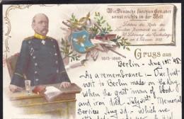 Otto Von Bismark German Empire Chancellor Politician, Prince Of Bismark Duke Of Lauenburg, C1890s Vintage Postcard - People