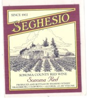 VIN  De Californie - Sonoma County Red Wine SEGHESIO  - - Rode Wijn