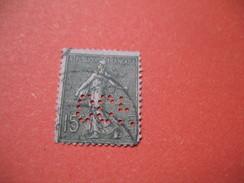 Perforé  Perfin  Référence Ancoper France  :    CCF60 - Perfin