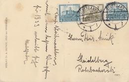 DR AK Zusammendruck Minr.W44 Stuttgart 23.12.32 Gel. Nach Heidelberg - Zusammendrucke