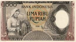 * INDONESIA 5000 RUPIAH 1958 P-63a UNC  [ID525a] - Indonesia