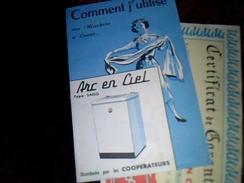 Vieux Papier Electromenager Anne 50 Publlicitee Annee 1958 Livret  Publicitaire D Utilisaton  Lave Linge Arc En Ciel - Pubblicitari