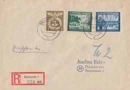 DR R-Brief Mif Minr.830,891,892 Hannover 8.9.44 - Deutschland