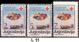 YUGOSLAVIA - JUGOSLAVIA - RED CROSS  Perf L 11  - **MNH - Beneficenza