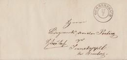 Brief R2 Gummersbach 13.2. Gel. Nach Immekeppel Bei Bensberg - [1] Prefilatelia