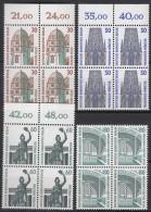 BERLIN  793-796, Viererblock, Postfrisch **, Sehenswürdigkeiten 1987 - Berlin (West)