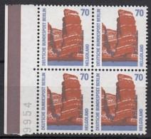 BERLIN 874, Viererblock, Postfrisch **, Sehenswürdigkeiten 1990 - Berlin (West)