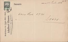 Wechsel Der Anglo.-österr. Bank, Vorm. Albert Zinner, Wien, über 6000 Mark, 14.7.1880, Mit Stempelmarke 5 Kreuzer - Wechsel