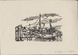 Friedrichstadt, Eiderhafen, Druck Vom Holzstich, DinA 4 - Prints & Engravings