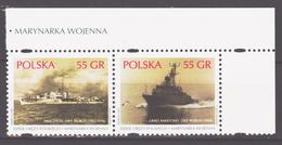 Poland 1999 Polen Mi 3742-3743p Warships / Kriegsschiffe **/MNH - Bateaux