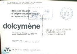 Publicité Dolcymène - Au Verso D'une CPSM Paquebot S/S Jérusalem - Pubblicitari