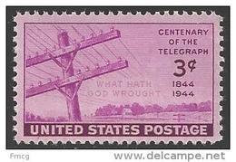 1944 3 Cents Telegraph Mint Never Hinged - Verenigde Staten