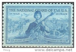 1953 3 Cents National Guard, Mint Never Hinged - Verenigde Staten