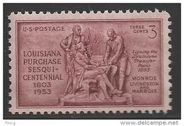 1953 3 Cents Louisiana Purchase, Mint Never Hinged - Verenigde Staten