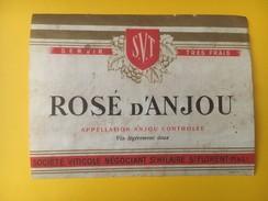 2727 - Rosé D'Anjou  Etat Moyen - Etiquettes