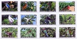 Tonga 2013,  Birds Of Tonga, Parrots, Kingfisher, Hibiscus, 12val - Tonga (1970-...)