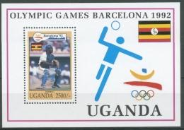 Uganda 1992 Olymp. Spiele Barcelona Baseball Block 172 Postfrisch (C23552) - Uganda (1962-...)