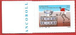 Italia 2016; Coppa Davis, A 40 Anni Dalla Vittoria Dell' Italia. Francobollo Di Bordo Sinistro. - 6. 1946-.. Repubblica