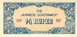 BURMA 1/4 RUPEE ND (1942) P-12 UNC  [BMM0304a] - Myanmar