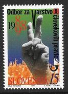 Slovenia: 1998 Protection Of Human Rights MNH - Eslovenia