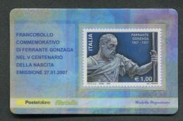 ITALIA TESSERA FILATELICA 2007 - ANNIVERSARIO NASCITA FERRANTE GONZAGA - 184 - 6. 1946-.. Republic