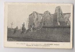 LE QUESNOY - Ruines De L'église Et Le Cimetière - Guerre De 1914 1915 - Guerre 1914-18