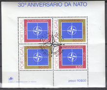 Portugal 1979 / 30 Years Of NATO/ Mi. Block 26 Used / First Day Cancel - BRD
