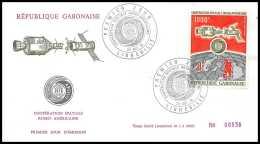 7299/ Espace (space Raumfahrt) Lettre (cover Briefe) 23/10/1974 Copération Spaciale Fdc Gabon - Lettres & Documents