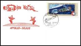 7406/ Espace (space) Lettre Cover 17/7/1975 Houston Test Project APOLLO Soyuz (soyouz Sojus) Link Up USA - Cartas